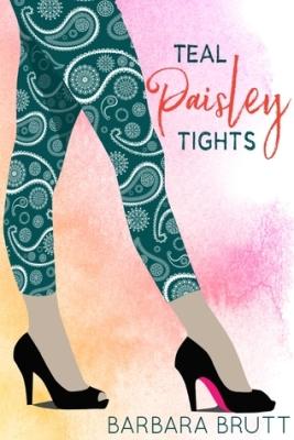 teal paisley tights