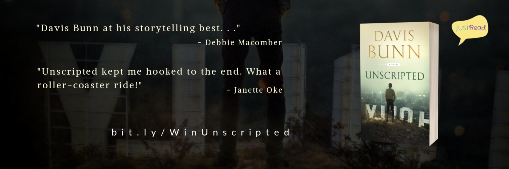 Unscripted by Davis Bunn JustRead Takeover Tour